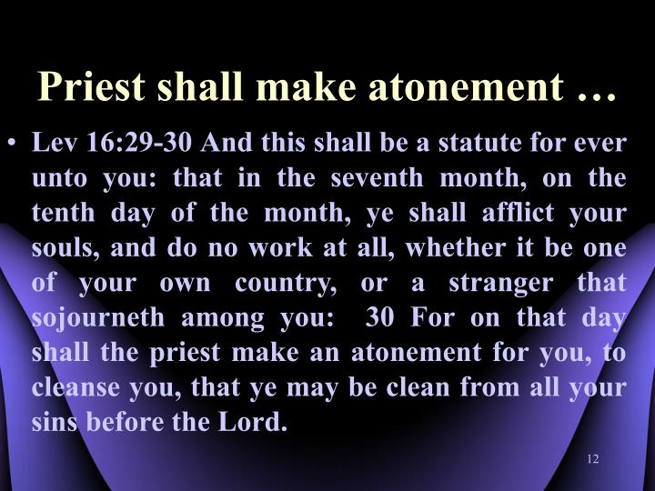 Priest shall make atonement …