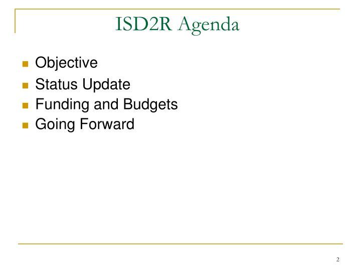 Isd2r agenda