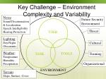 key challenge environment complexity and variability