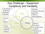 key challenge equipment complexity and variability