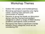 workshop themes