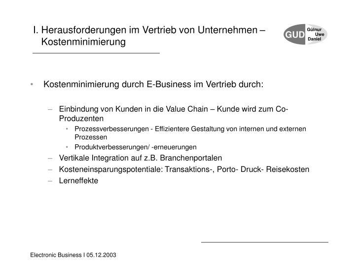 I. Herausforderungen im Vertrieb von Unternehmen –