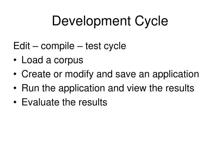 Development cycle