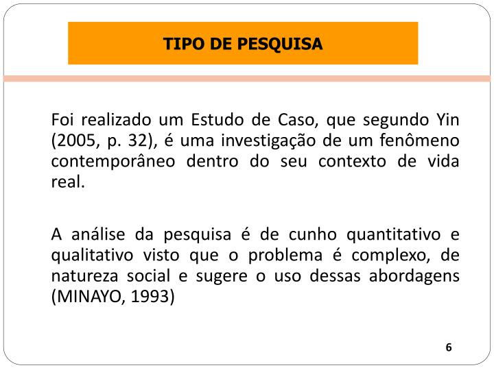 TIPO DE PESQUISA