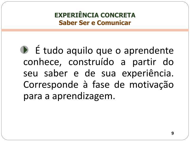 EXPERIÊNCIA CONCRETA