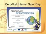 certyfikat internet safer day