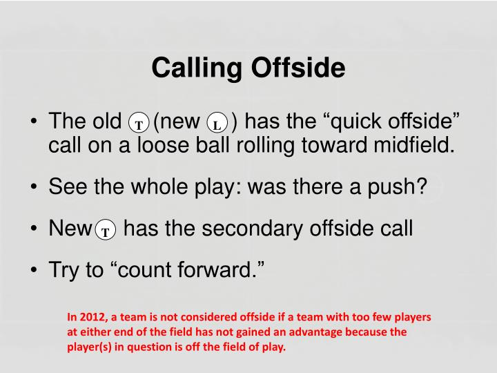 Calling Offside