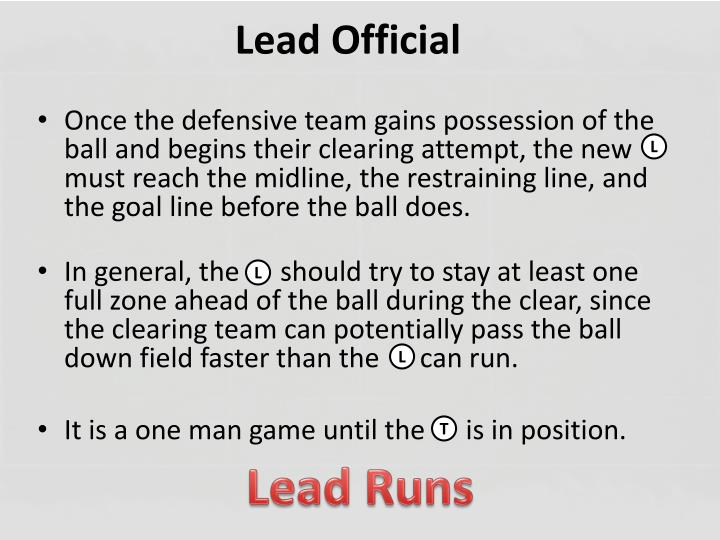 Lead Official