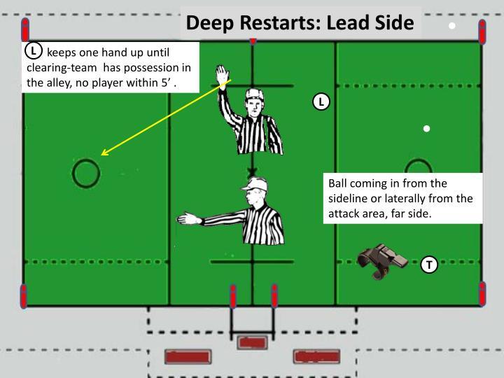 Deep Restarts: Lead Side
