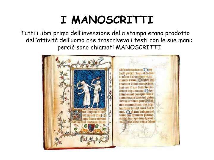 I manoscritti1