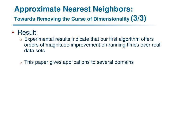 Approximate Nearest Neighbors: