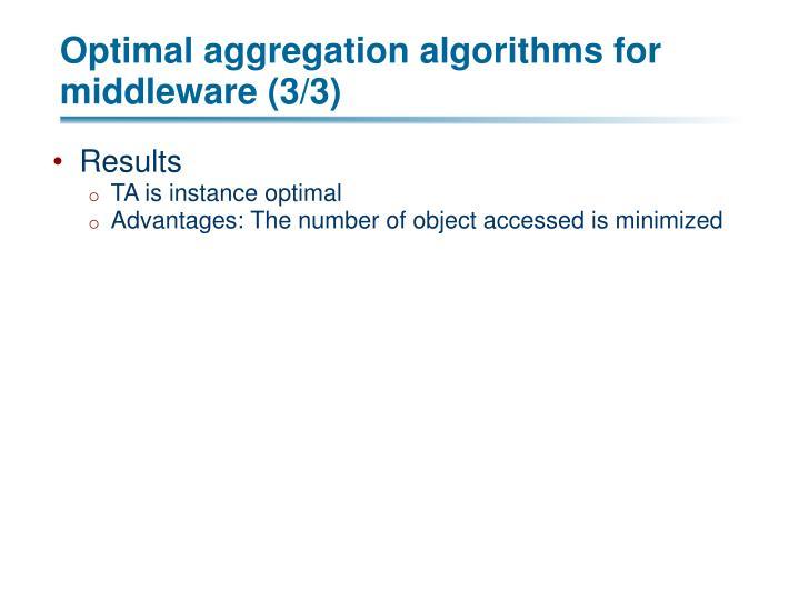 Optimal aggregation algorithms for middleware (3/3)