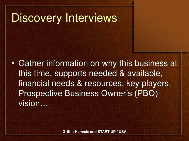 Discovery interviews1