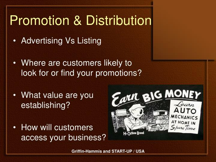 Promotion & Distribution