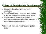 pillars of sustainable development
