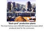 back yard production plants