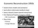 economic reconstruction 1950s