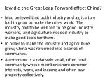 how did the great leap forward affect china