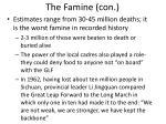 the famine con