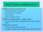 main technical modifications2
