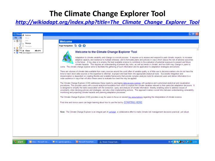 The Climate Change Explorer