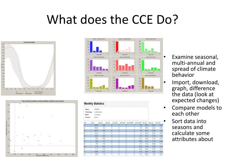 What does the CCE Do?