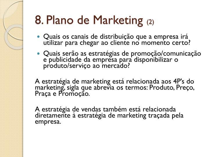 8. Plano de Marketing