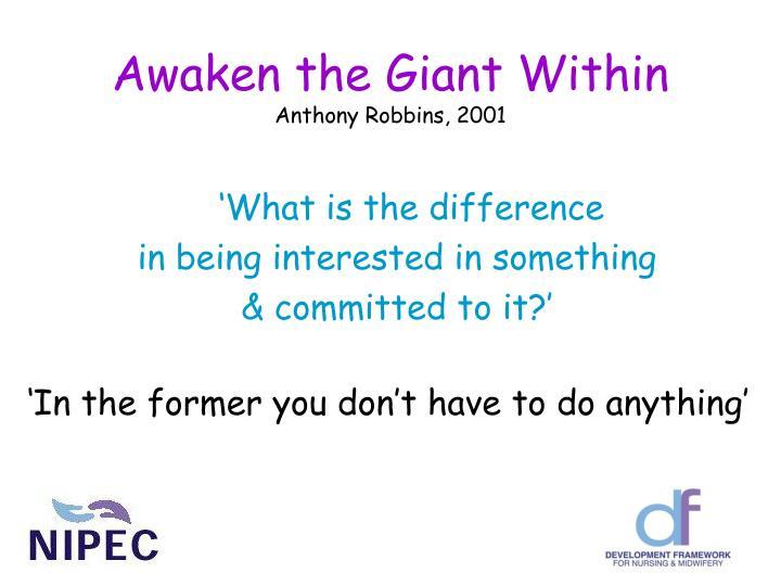 Awaken the giant within anthony robbins 2001