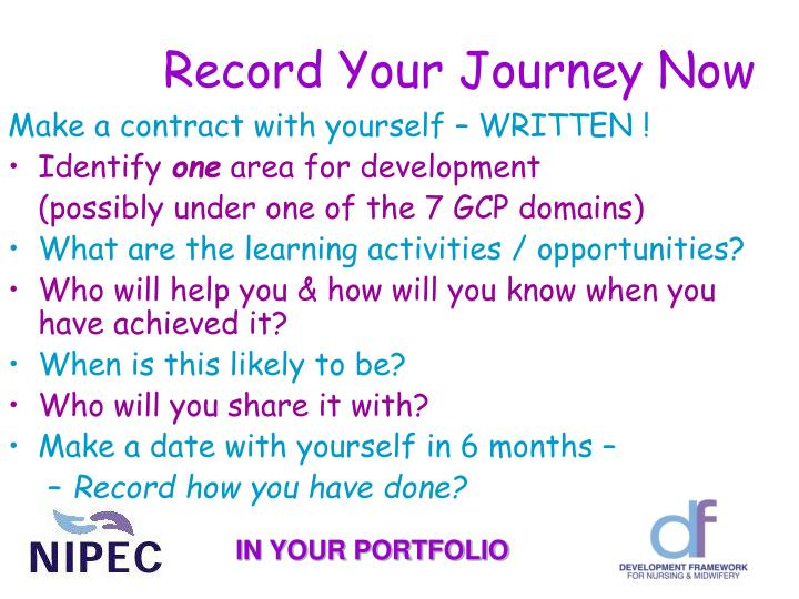 Record Your Journey Now
