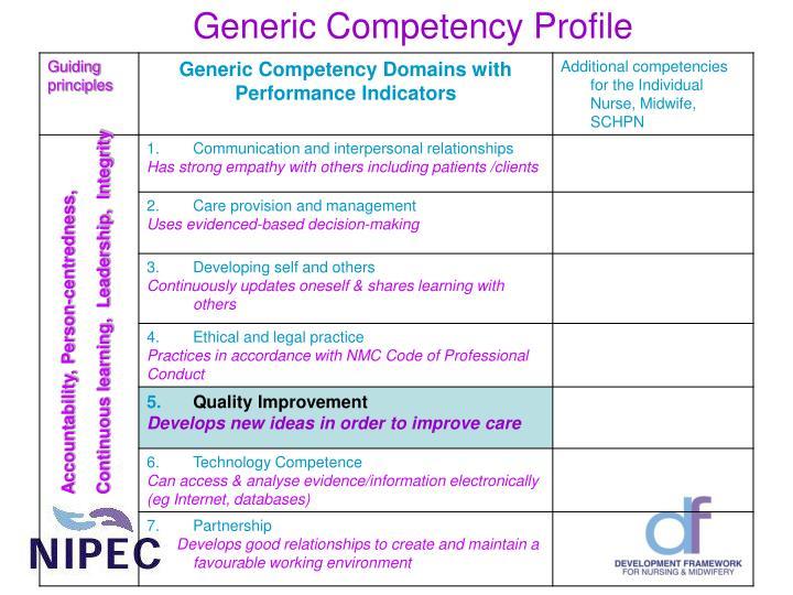Generic Competency Profile