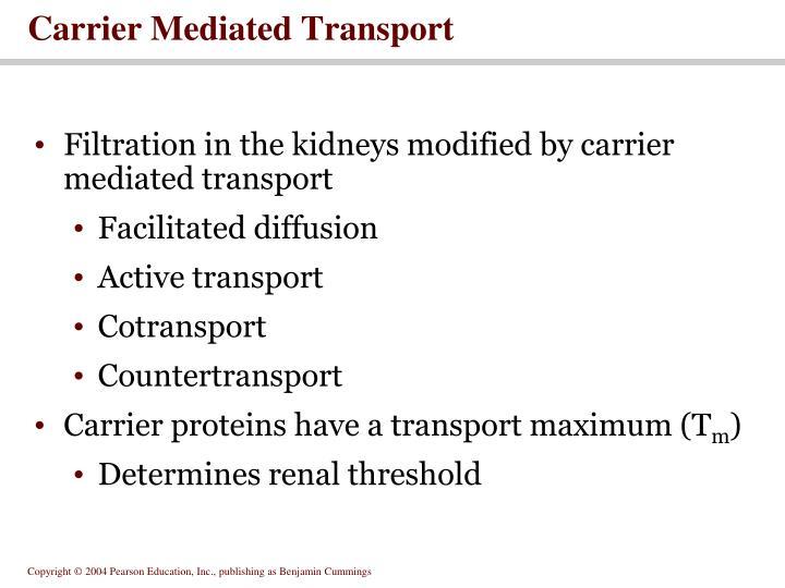 Carrier Mediated Transport