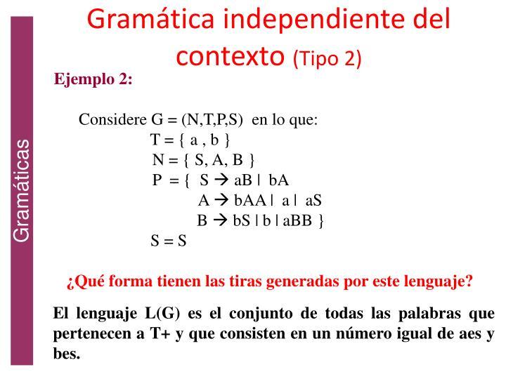 Gramática independiente del contexto