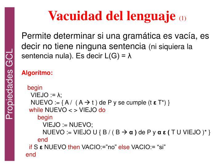Vacuidad del lenguaje