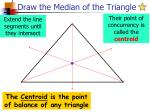draw the median of the triangle