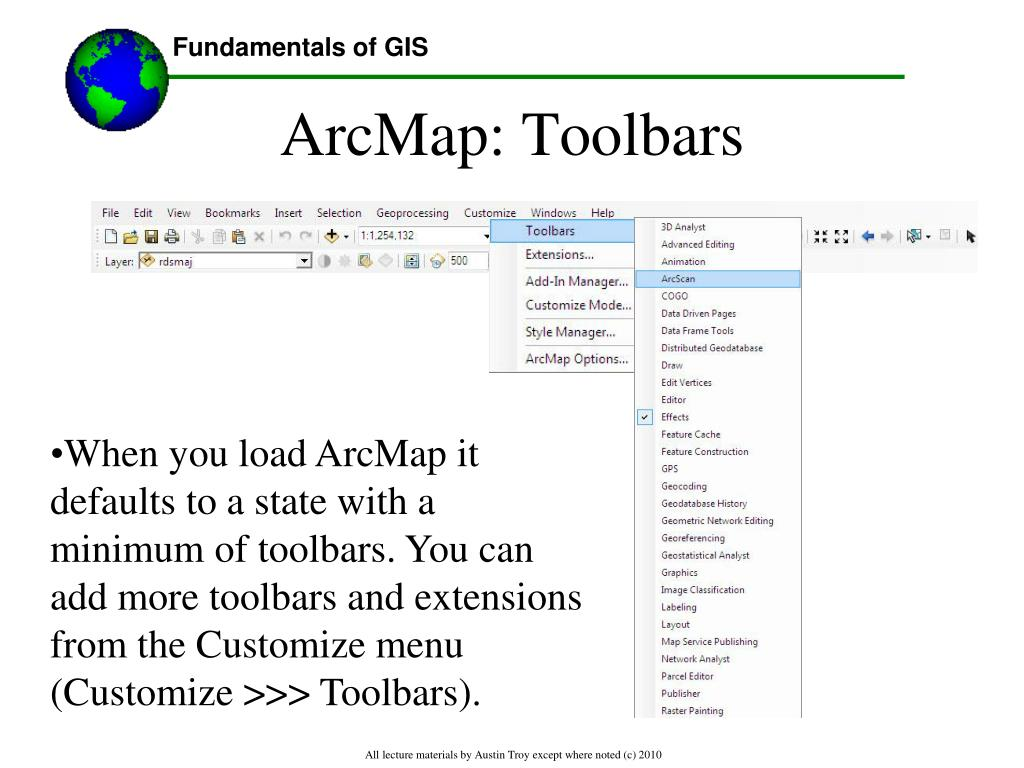 PPT - Lecture 2: Introduction to the Architecture of ArcGIS