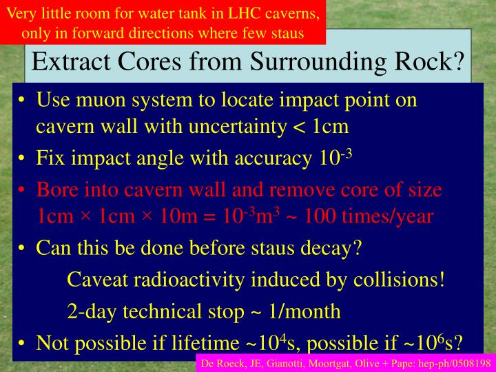 Very little room for water tank in LHC caverns,