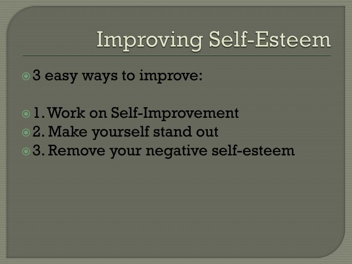 Improving Self-Esteem