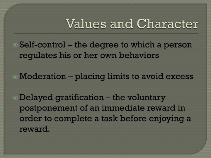 Values and Character