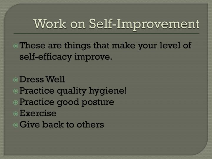 Work on Self-Improvement