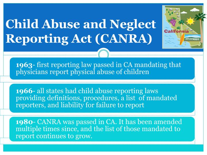 Child Abuse and Neglect Reporting Act (CANRA)