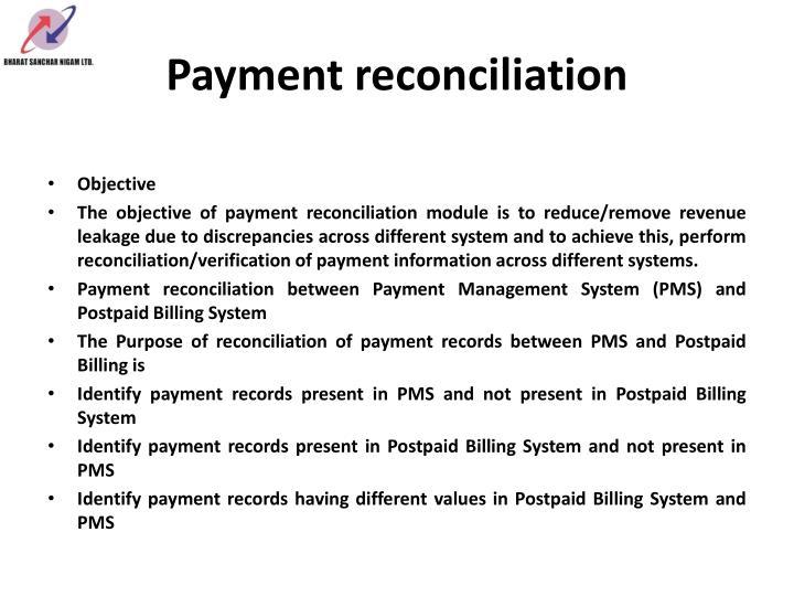 Payment reconciliation