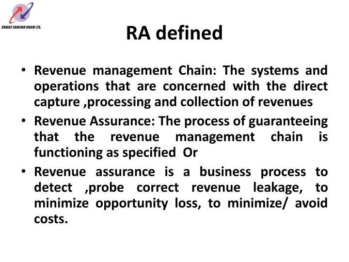 RA defined