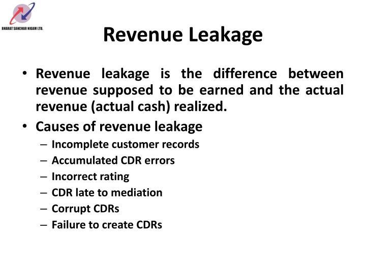 Revenue leakage