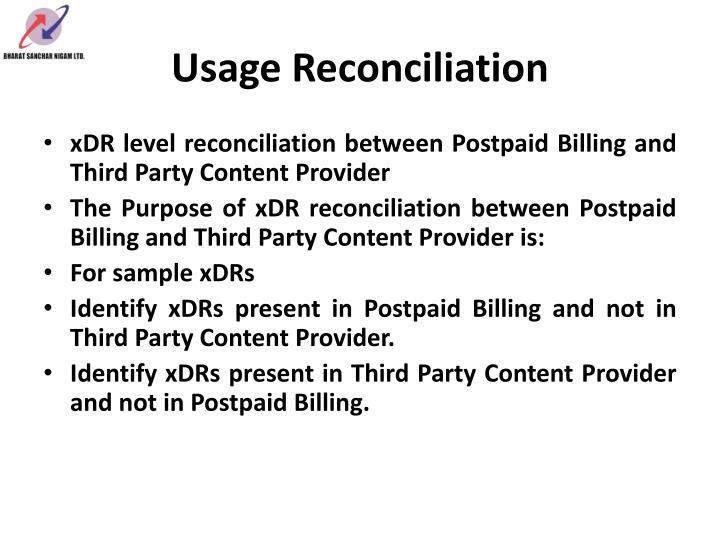 Usage Reconciliation