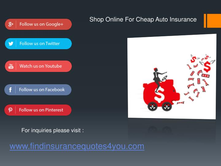 PPT - Shopping Online for Cheap Auto Insurance PowerPoint ...