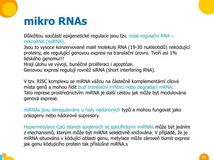 mikro RNAs