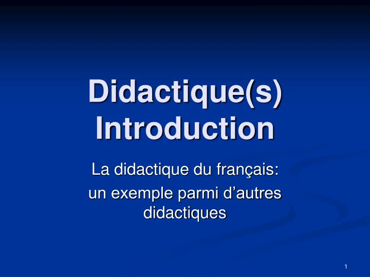 didactique s introduction n.