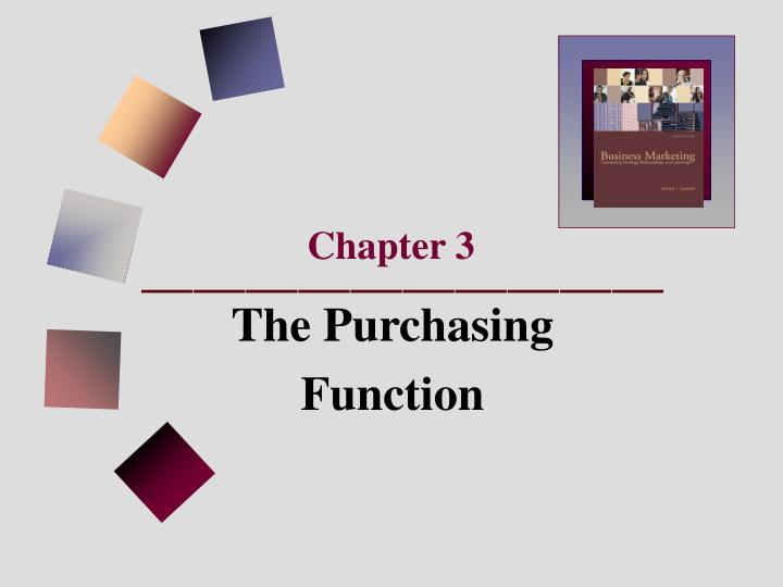 the importance of the purchasing function Public procurement is an important function of government for several reasons first, the sheer magnitude of procurement outlays has a great impact on the economy and needs to be well.