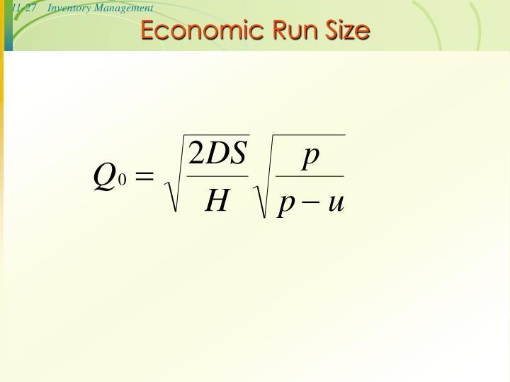 Economic Run Size