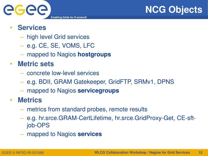 NCG Objects